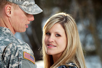 Military couples photography session in Anchorage, AK.